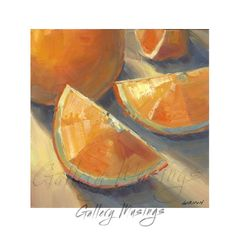 Oranges Painting on Archival Panel, Kitchen Art, Original Oil Painting Food Art by GalleryMusings, $57.00 USD
