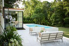 Outdoor Rooms, Outdoor Furniture Sets, Outdoor Living, Outdoor Decor, California Pools, Sunken Fire Pits, Steel Doors And Windows, Garden Pool, Pool Backyard