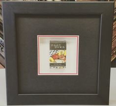 Now here is a GREAT anniversary idea! This customer framed a matchbox from Root Down, which is the restaurant where she and her husband had their first date! #art #pictureframing #customframing #denver #colorado #shadowbox #rootdown