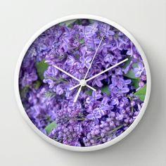 Lilacs Wall Clock by Lisa Argyropoulos Best Wall Clocks, Tic Toc, Lilacs, Cool Walls, Inspiration, Home Decor, Biblical Inspiration, Decoration Home, Room Decor