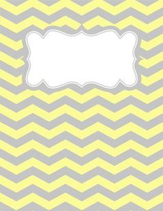 Free Printable Yellow And Gray Chevron Binder Cover Template Download The In JPG Or PDF Format At Bindercovers An