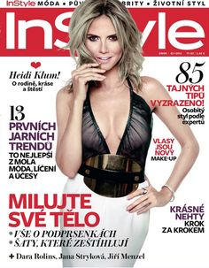 Heidi Klum pictures already on Marie Claire US February 2013 at this month. But now you will watch her on Instyle Czech February 2013 too. Front cover of Instyle February Heidi Klum, Skirt Fashion, Fashion Art, Celebrity Magazines, Instyle Magazine, Victorias Secret Models, Cover Model, White Skirts, All About Fashion