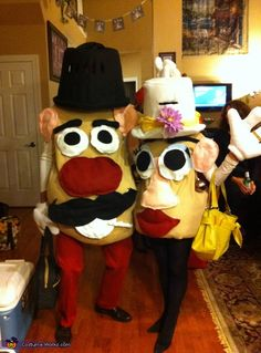 Mr. and Mrs. Potato Head Costumes - Halloween Costume Contest via @costumeworks