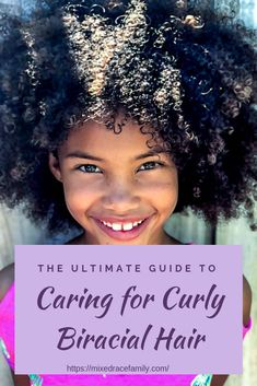 The Ultimate Guide To Caring For Curly Biracial Hair Mixed - The Ultimate Guide To Get You Styling And Caring For Your Childs Biracial Hair Complete With Helpful Curly Tips The Best Biracial Hair Websites Mixed Race Hair Tutorials From The Experts And Mixed Curly Hair, Mixed Hair Care, Curly Hair Care, Curly Hair Styles, Natural Hair Styles, Short Hair, Mixed Kids Hairstyles, Baby Girl Hairstyles, Biracial Hair Care