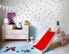 mommo design: Love the wall/paint design for a kids room! Ikea Ps, Deco Kids, Cool Kids Rooms, Kids Room Design, Wall Design, Kid Spaces, Play Spaces, Kids House, Kids Decor