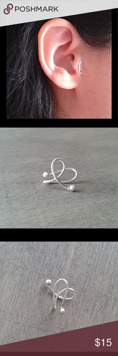 925 Sterling Silver clip on Tragus ear cuff You don't need a pierced ear to wear this trendy little cuff! Made of solid 925 Sterling silver. Completely hypoallergenic and nickel free. Simply slide onto the ear, gently tighten until secure and comfy. One size fits all. nejd Jewelry Earrings