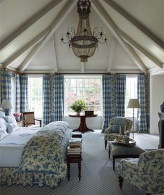 Looking for some French bedroom ideas? French bedroom design is popular for its elegance and whimsy. French Bedroom Decor, French Country Bedrooms, French Country House, French Country Decorating, French Cottage, Country Style, Country Bathrooms, Cottage Decorating, Country Blue