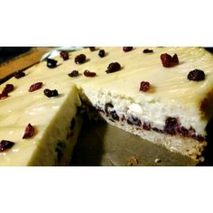 New york baked cranberry cheesecake