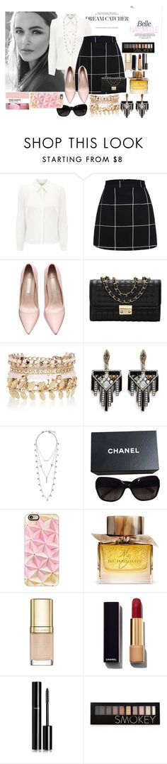 """""""Sophsication"""" by fantasticbabe ❤ liked on Polyvore featuring Eastex, River Island, Lulu Frost, Lucky Brand, Chanel, Casetify, Burberry, Dolce&Gabbana and Forever 21"""