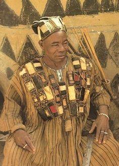 Beautiful garment of a Dogon priest, Mali, Africa.