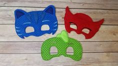 This listing is for set of themed masks.       This hand crafted mask is made from high quality felt and is very durable. Each mask has an
