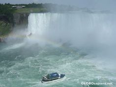 Niagra Falls Canada. Boat ride to the base of the falls on the Maid of the Mist.