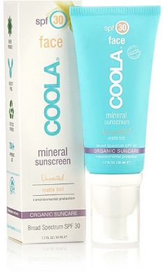 Best foundation primers via The Daily Beauty Blotter. Coola Mineral Face SPF 30 Matte Tint