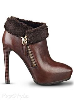 GUESS Ivorie Faux-Fur Leather Booties