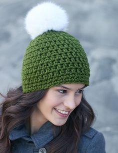 http://www.yarnspirations.com/patterns/quick-pompom-hat.html