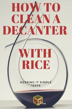 If you need to desperately removed some wine stains from a decanter and don't have either a decanter brush or the cleaning balls to hand then look no further. We show in 6 easy steps how to clean a decanter effortlessly using rice. Wine Tasting Near Me, Wine Tasting Party, Wine Party Appetizers, Wine Parties, Riesling Wine, Sweet White Wine, Wine Carafe, Electric Wine Opener, Wine Stains