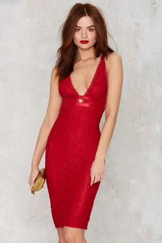 Sawyer Lace Midi Dress - Red - Clothes   Valentine's Day   Valentine's Day   Going Out   Midi + Maxi