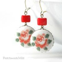 http://patchworkmill.tictail.com/product/dangle-earrings-italian-roses-shabby-romantic-chic-jewelry-fabric-covered-buttons-with-czech-glass-beads