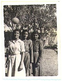 1940s iran | An Iranian Girl School in Late 1940s: Watch for that ball! Source ...