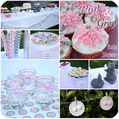 pink && grey baby shower!