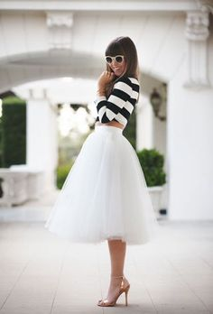 11.11.14 Currently having a love affair with floppy hats and tule skirts.