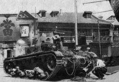 1937年9月3日,淞沪会战,日军陆战队缴获的国军坦克