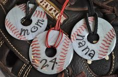 Baseball Washer Jewelry Pendants/Keychains/Bracelet Center (Inspiration Only, No Patterns or Instructions)