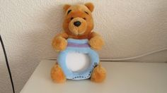 Disney Winnie The Pooh Plush With Photo Frame  4x4 in    15 in tall #disney