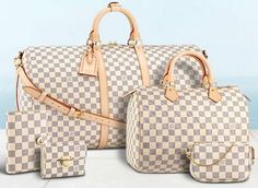 "I always buy well made, high quality handbags, but nothing that screams ""LOOK AT ME!""  and while I don't usually go for anything monogrammed or slapped with labels, I really like LV Damier bags."