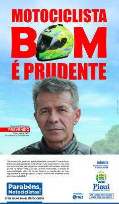 Anúncio II Para Jornal - Dia Do Motociclista 2016 - Cliente Gov. Do Piauí