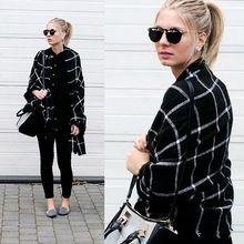 Écharpe Femmes za plaid bufandas mujer 2016 noir de mode chaud foulards pour…