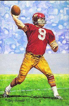 941a0429ed0 Redskins #9 Sonny Jurgensen Redskins Football, Redskins Fans, Football Art,  Football Photos