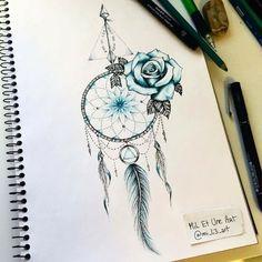 Tattoo Designs For Women Sleeve Dream Catcher Feather Tattoos, Rose Tattoos, Body Art Tattoos, Small Tattoos, Dreamcatcher Tattoos, Paisley Tattoos, Wing Tattoos, Thigh Tattoos, Henna Tattoos