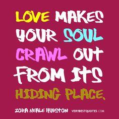 we always hide but wen we c ze 1 we love we go out to get it.