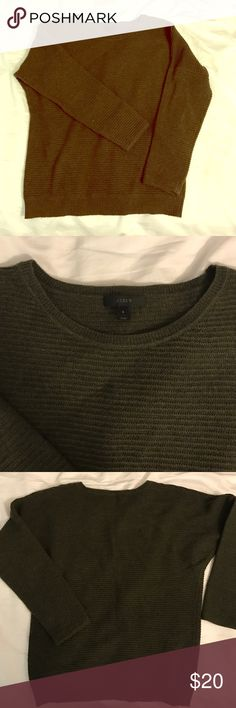 J.Crew green sweater NO TRADES OR PAYPAL. J.Crew green pointelle-stitched sweater. Size small. Worn only once or twice. No marks or damages anywhere. J. Crew Sweaters Crew & Scoop Necks