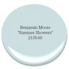 Benjamin Moore Summer Shower Coastal Farmhouse Paint Color