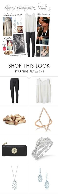 """""""Laker's Game with Niall"""" by karolinebhn ❤ liked on Polyvore featuring Wildfox, Diane Kordas, Mulberry, Payne and Tiffany & Co."""