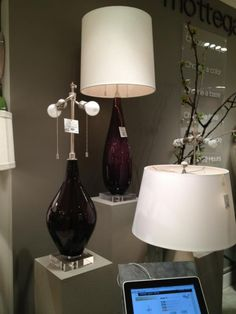 Aren't these #Mottega table lamps hot on style? This is their sangria color in glass. I'll take two please. #HPMkt