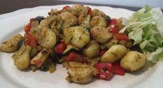 Gnocchi met pesto en garnalen - Het keukentje van Syts