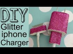 How to make a glitter iphone charger video tutorial #DIYiphoneCharger #iphone
