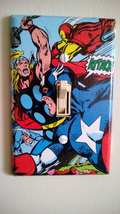 Comic Book superhero Avengers comic light by PastePotPrefects