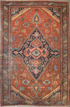 Persian Heriz rug, late 19th c