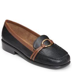 Aerosoles Dubious Loafers - Black Tan Combo