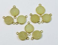18K Gold Vermial Druzy Pendant 9 Pcs 925 Sterling by GEMSICON
