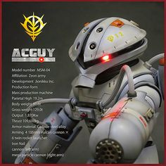 GUNDAM GUY: HGUC 1/144 Acguy - Customized Build w/ LED
