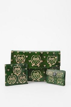 Ecote Punched Owl Heart Pouch - Set Of 3 $24