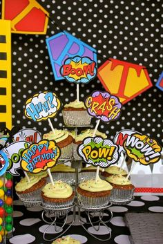 Photo 1 of Superhero / Birthday Superheroes Headquarters 1st Birthday Cake Topper, Birthday Cup, Batman Birthday, 4th Birthday Parties, Birthday Ideas, Happy Birthday, Superhero Baby Shower, Superhero Theme Party, Baby Shower Cupcakes Decorations