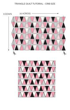Triangle Quilt Pattern Update: How to get Sharp Triangles - see kate sew                                                                                                                                                                                 More