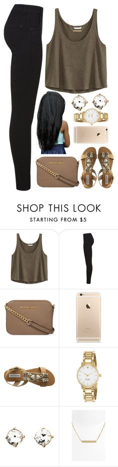 """""""26 April, 2015"""" by jamilah-rochon ❤ liked on Polyvore featuring H&M, Miss Selfridge, MICHAEL Michael Kors, Steve Madden, Kate Spade, Charlotte Russe and Nordstrom"""