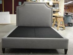 Custom: One of Cornerstone Home Interiors custom lines carries a similar upholstered headboard line~